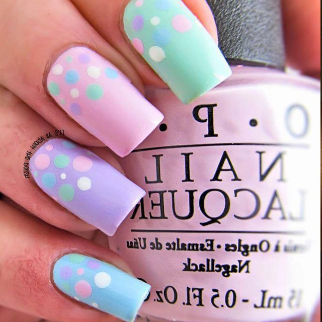 Dotty French Spring Nails