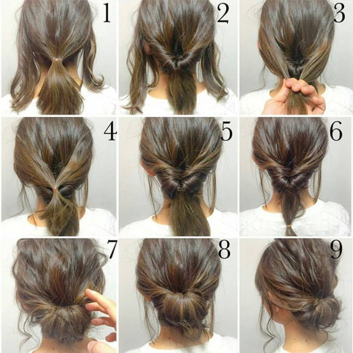 Twisted Braid Bun Up-do
