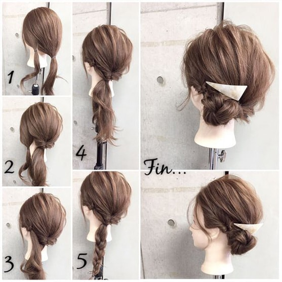 6-10 Updos tutorials on pinterest to Look Stunning