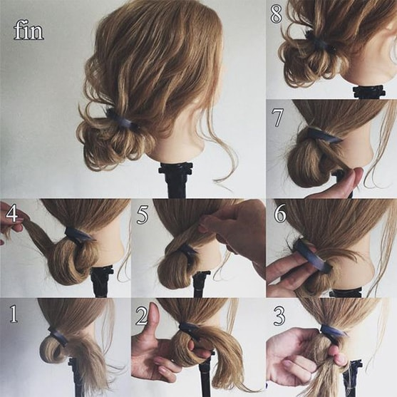 7-10 Updos tutorials on pinterest to Look Stunning