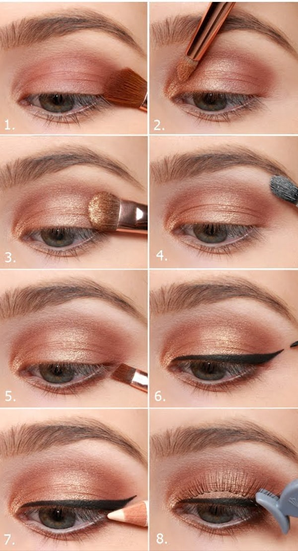 5-Makeup Step By Step For Blue Color Eyes!