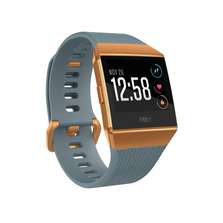 Fitbit Ionic Smartwatch with color combination of state blue and burnt orange