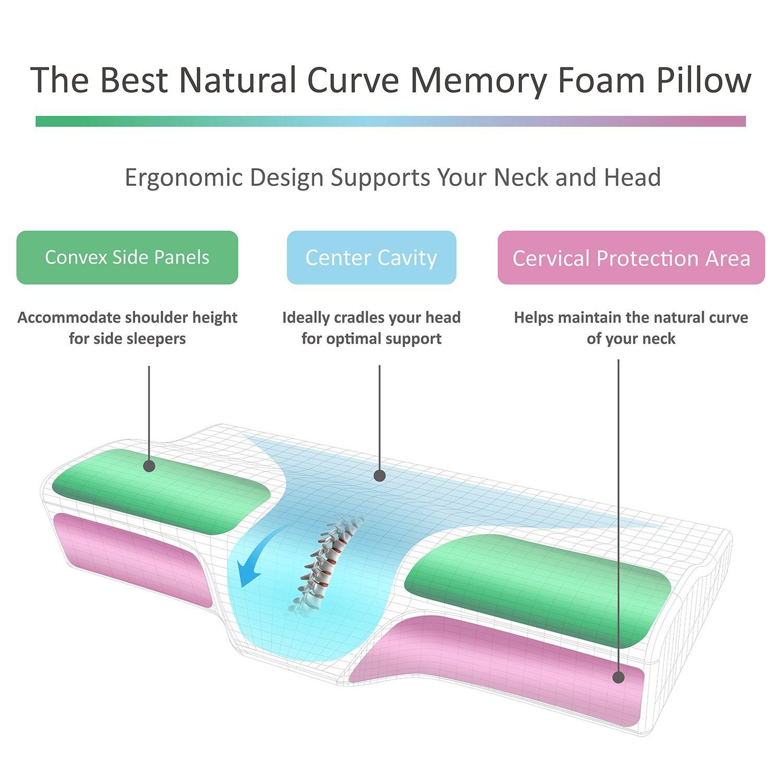 best memory foam sleep dream cervical neck support pillows 2020