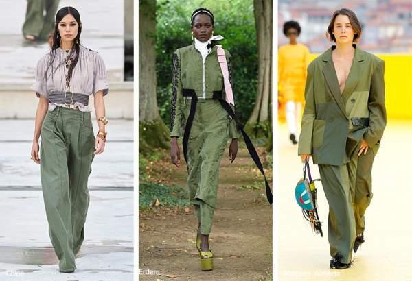 Глубокий насыщенный зеленый цвет в одежде