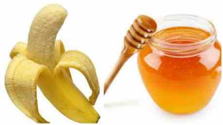 Banana honey face mask