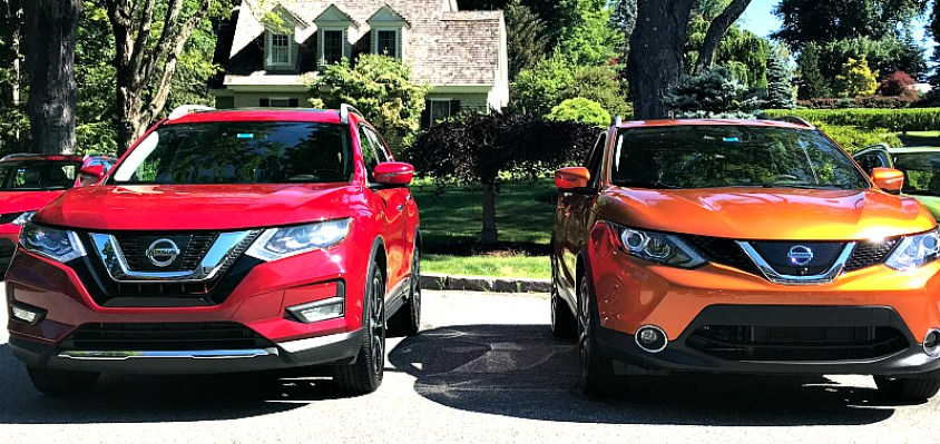 2017 Nissan Rogue Sport and Rogue side by side