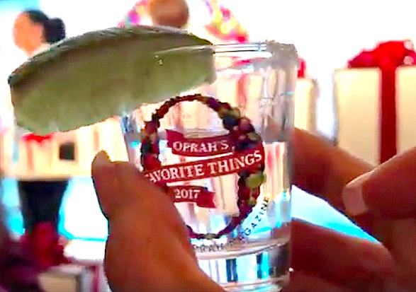 Oprah's tequila shot glass