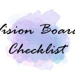 Vision Board Checklist