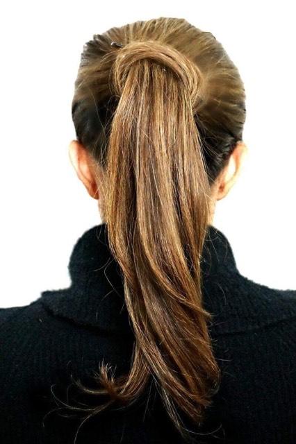 Beautiful hair in the winter