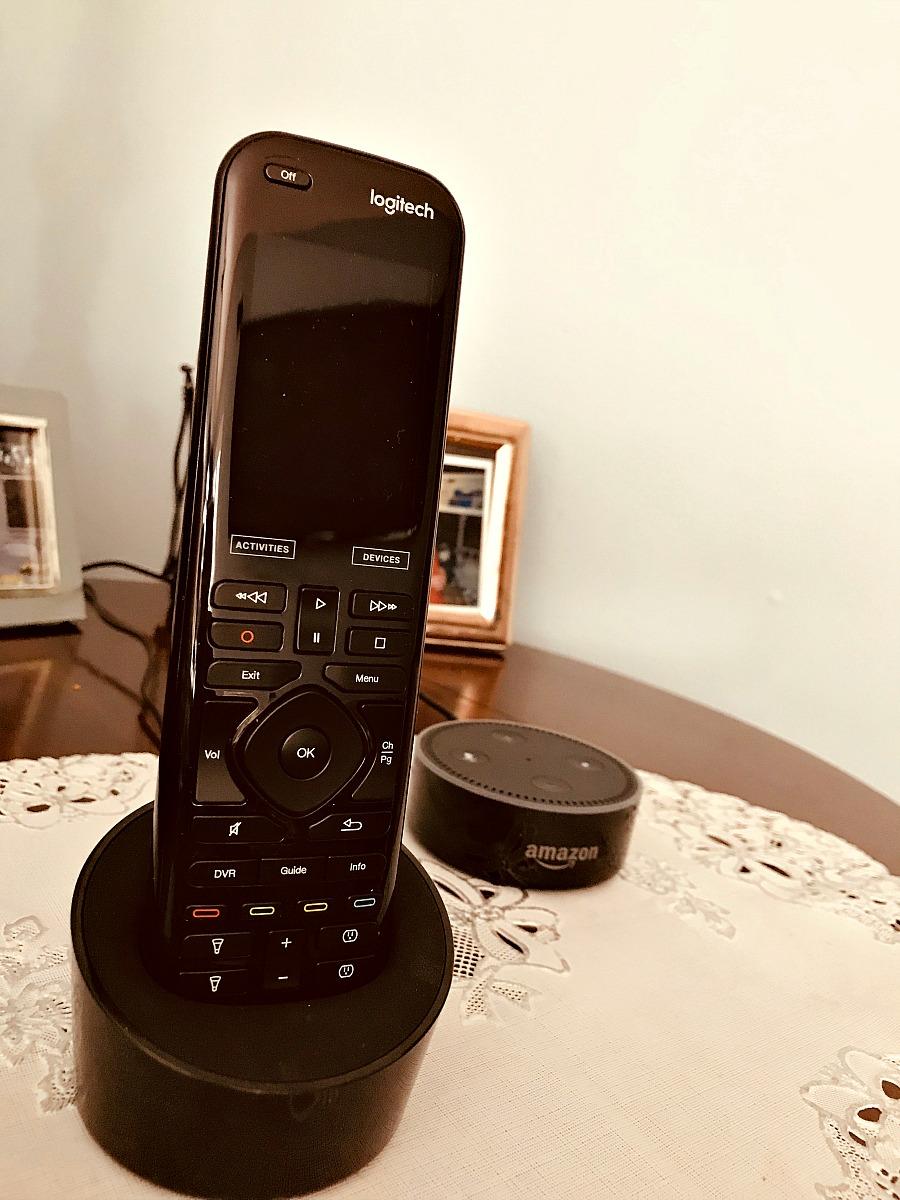 Amazon Echo Dot and Logitech Remote Control