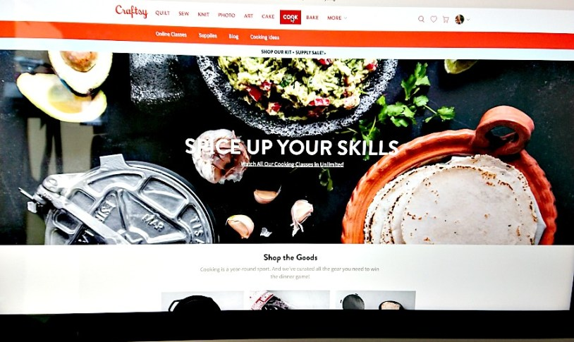 cooking classes at Craftsy