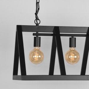 Hanglamp Roof Zwart Metaal 95x35x38 cm Detail