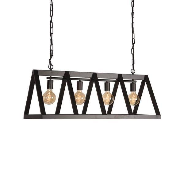 Hanglamp Roof Zwart Metaal 95x35x38 cm Perspectief