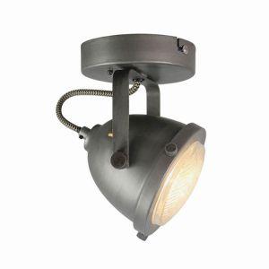 LED Spot Moto 1 lichts Burned Steel 12x12x16 3 cm