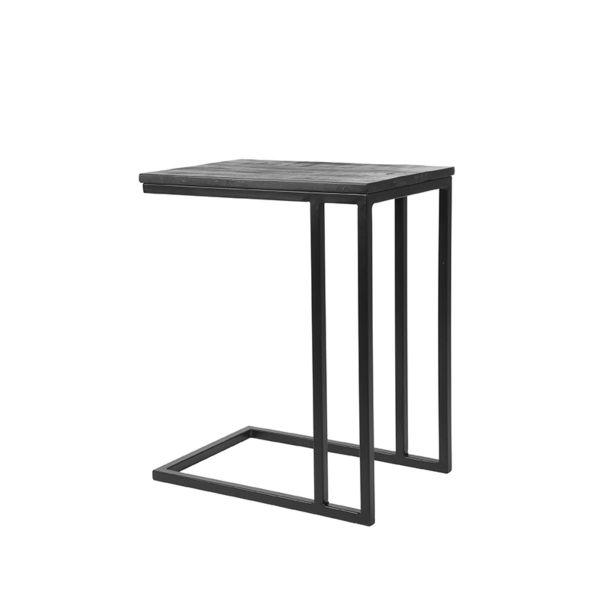 Laptoptafel Move Zwart Mangohout Zwart Metaal 35x50x61 cm Perspectief 2 2