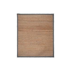 Vloerkleed Jute Naturel Jute Grijs Katoen 140x160 cm Voorkant