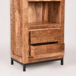 boekenkast ghent rough mangohout 70x45x185 cm detail 2 1