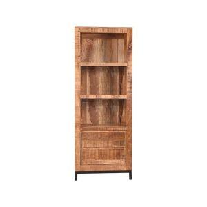 boekenkast ghent rough mangohout 70x45x185 cm voorkant 1