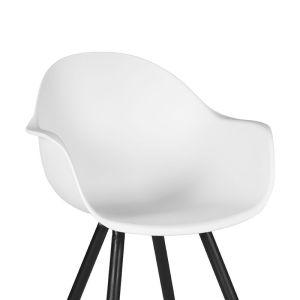 eetkamerstoel luca wit pp zwart metaal 58x54x85 cm detail 1