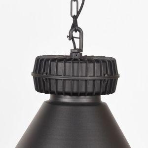 hanglamp duisburg zwart metaal 51x51x57 cm detail 2
