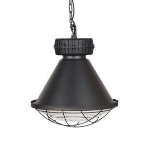 hanglamp duisburg zwart metaal 51x51x57 cm voorkant