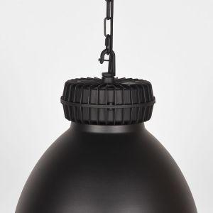 hanglamp heavy duty zwart metaal 50x50x40 detail 2