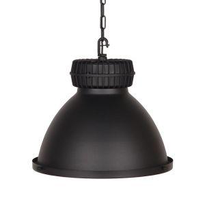 hanglamp heavy duty zwart metaal 50x50x40 voorkant