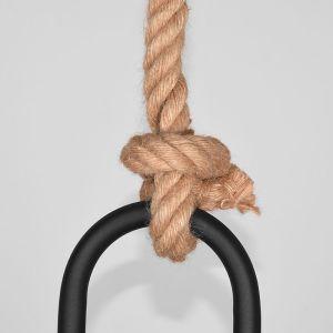 hanglamp korf zwart metaal touw 48x48x56 cm detail 2 2