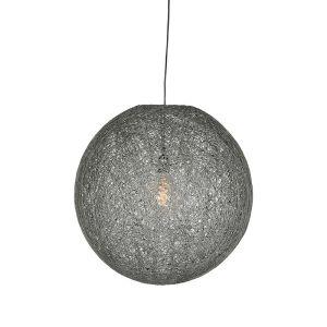 hanglamp twist grijs vlas 45x45x45 cm voorkant aan 1