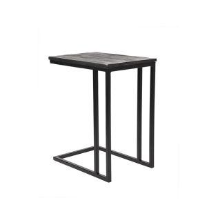 laptoptafel move zwart mangohout zwart metaal 35x50x61 cm perspectief 1