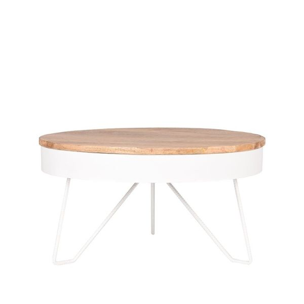 salontafel saran wit metaal 80x80x43 cm voorkant 2