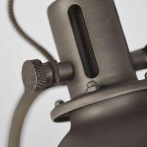 tafellamp spot burned steel metaal 18x59x27 cm detail