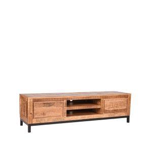 tv meubel ghent rough mangohout 160x45x45 cm perspectief 2