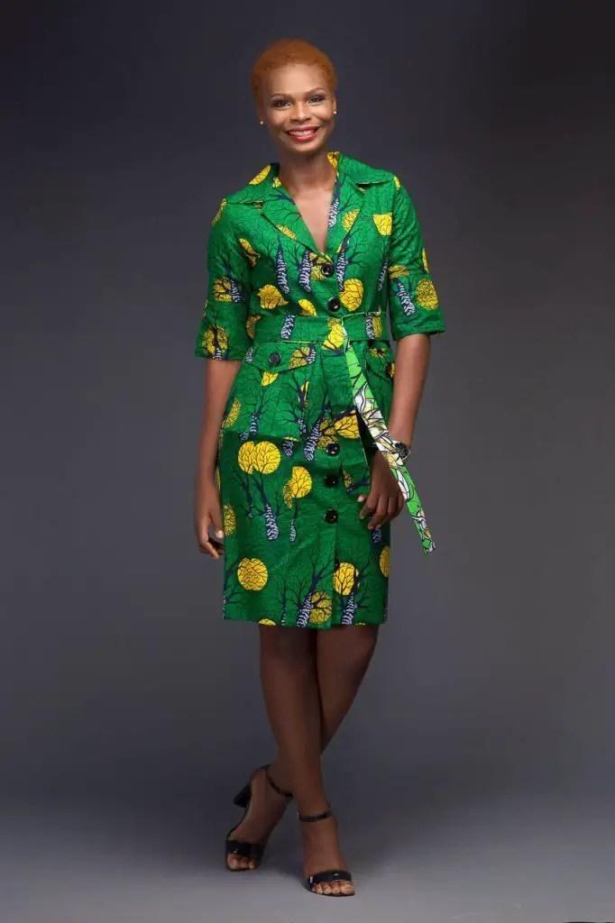 ankara shirt dress