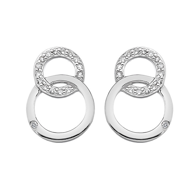 Hot Diamonds Strieborné náušnice Hot Diamonds Love DE533  0093f57b5cf