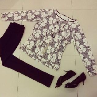 Trendy Store_Moletom floral, colar e legging