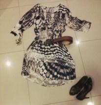 Trendy Store_Vestido estampa exclusiva e cinto de couro