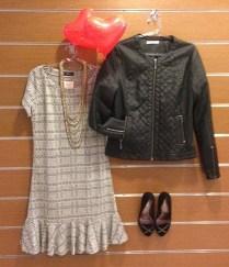 Trendy Store_Vestido e jaqueta de couro ecológico
