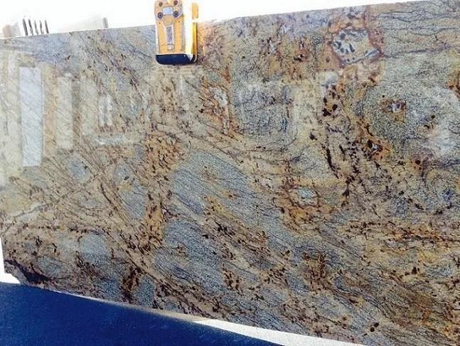 Golden Storm Polished Granite Slab Trendy Surfaces