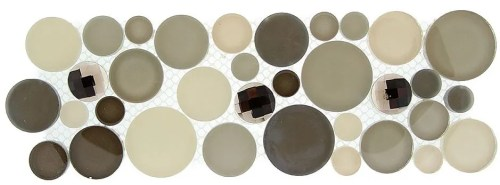 TS866160 MULTI SIZE CIRCLE MOSAIC (sold per sheet) (4x11.25 each sheet)