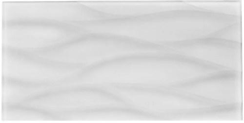 TS866450 WHITE WAVEY 9X18 GLASS TILE (sold by full box) (5.62 sqft each box)