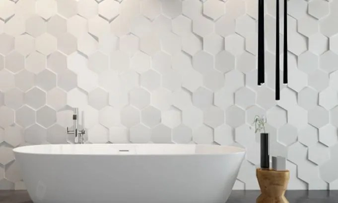 TS TILE Trendy Surfaces - 10x10 white ceramic tiles