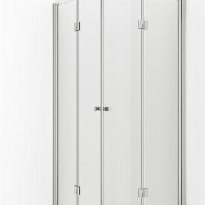 VikingBad dusjdør leddet Mats 80cm - Venstre
