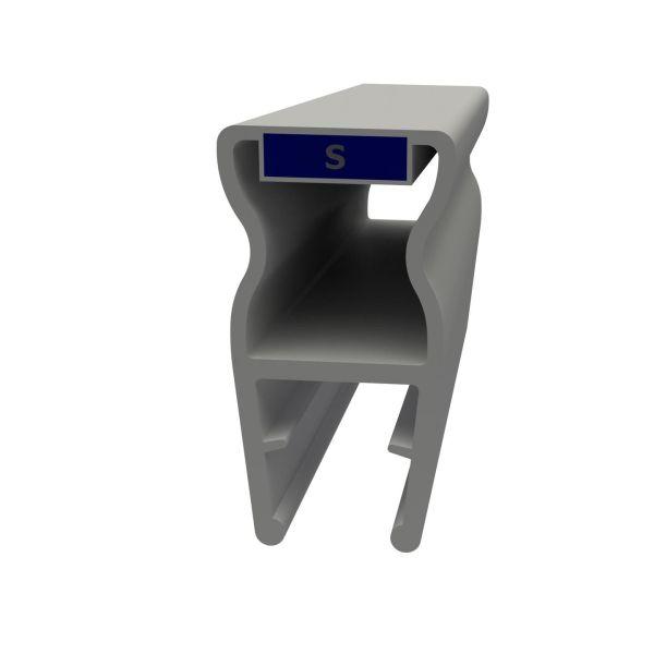 Magnetprofil fast glass nisjemontering (2stk)