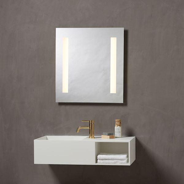 Speil med integrert Lys 60 cm