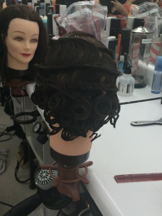 fingerwaves with pin curls on bottom