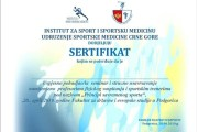 Poziv za seminar Udruženja sportske medicine Crne Gore