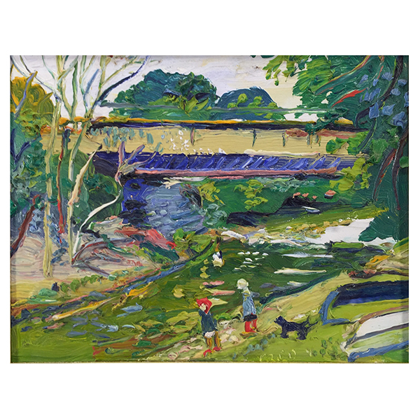 Yates, Fred (1922 - 2008) - The Railway Bridge at Lostwithiel - Trent Art