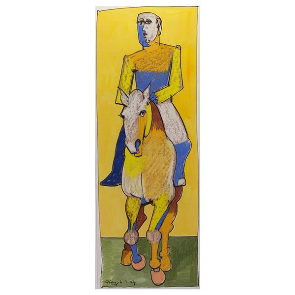 Rider-Advancing-Geoffrey-Key-Treant-Art