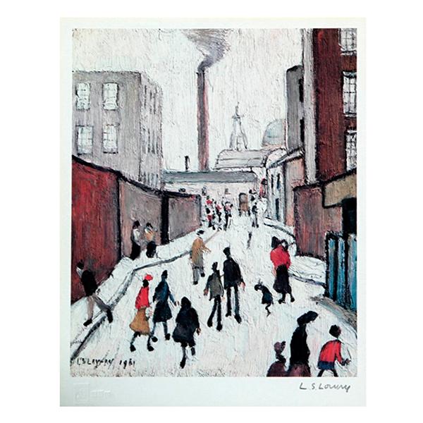 Street-Scene-Laurence-Stephen-Lowry-Trent-Art